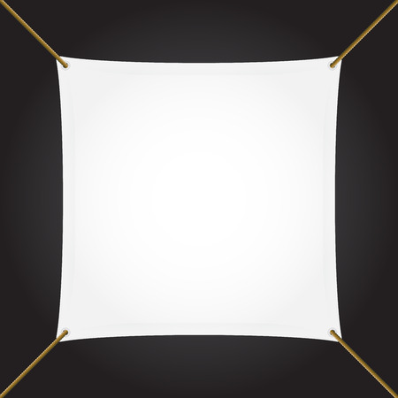 suspend: Textile banner with copy space, square, vector
