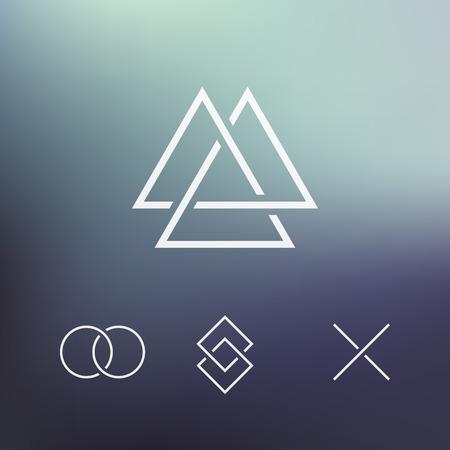 forme: Élément géométrique, formes connectés, vecteur Illustration