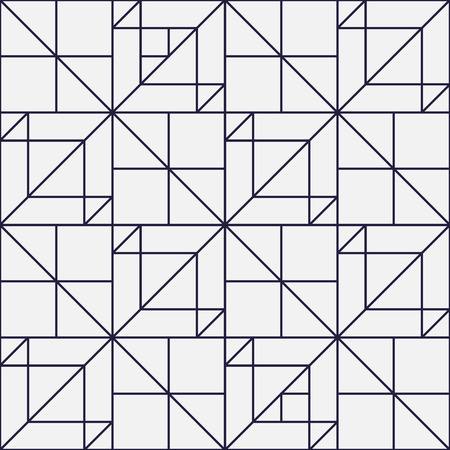Geometric background, squares with lines, seamless pattern