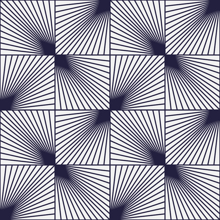 illusions: Vintage background, squares with lines, optical illusion, seamless pattern Illustration