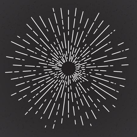 Vintage zon uitbarsting, vector illustratie
