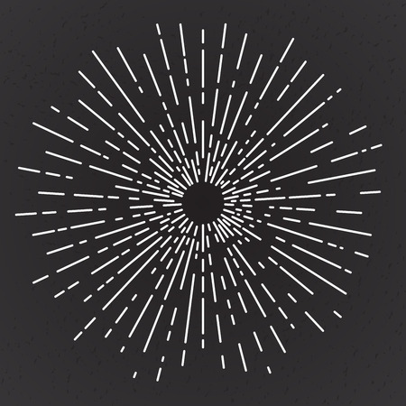 Vintage sun burst, vector illustration