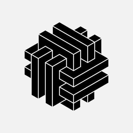 architecture backgrounds: Geometric element, vector illustration, planks