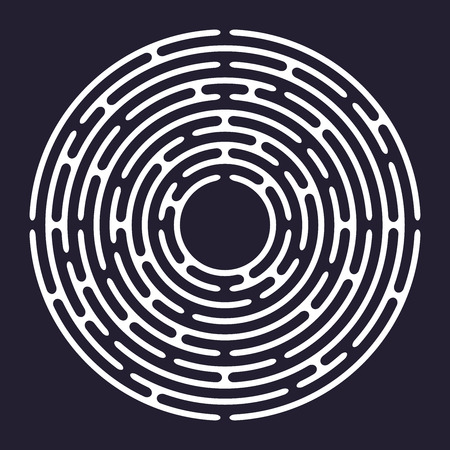 Circle labyrinth, maze, vector illustration