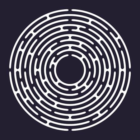 Circle labyrinth, maze, vector illustration