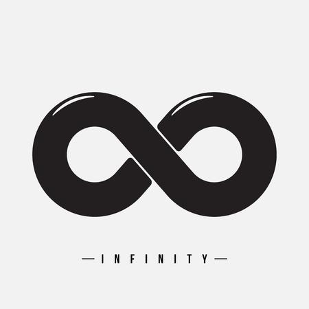 signo de infinito: Signo del infinito, ilustraci�n vectorial