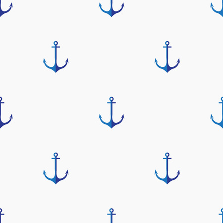 Anchor seamless pattern, vector illustration
