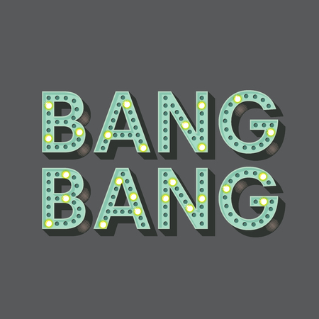 bang: Bang Bang sign, vector illustration