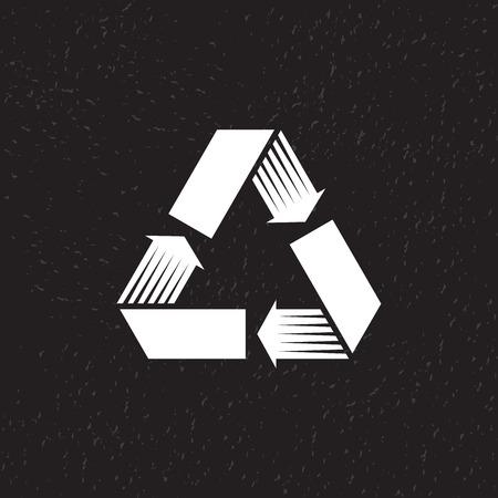 recycle symbol vector: Recycle symbol, vector illustration