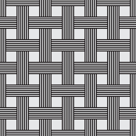 woven: Seamless intertwined stripe Pattern, vector illustration, line design Illustration