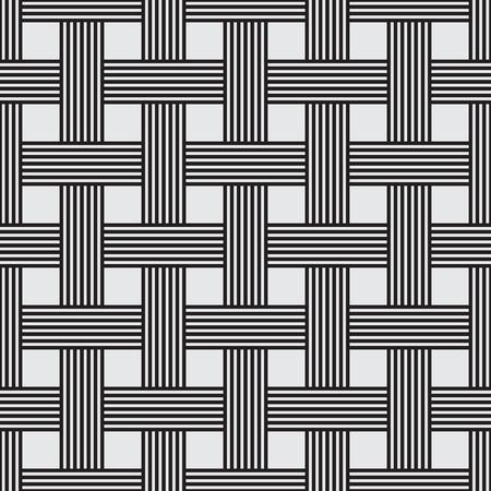 stripe pattern: Seamless intrecciate motivo a strisce, illustrazione vettoriale, disegno linea