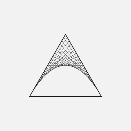 geometria: Triángulo con paraboloide hiperbólico, geometría sagrada