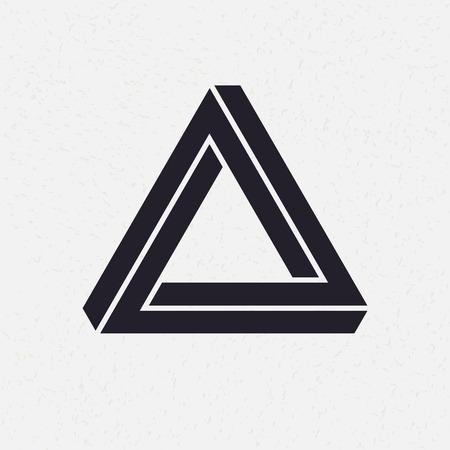 forme: Impossible forme, triangle, illustration vectorielle Illustration