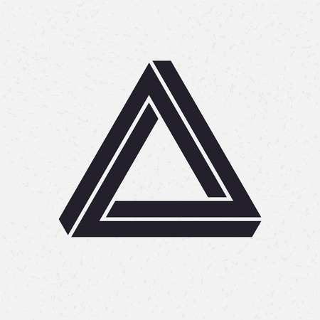 shape triangle: Impossible shape, triangle, vector illustration
