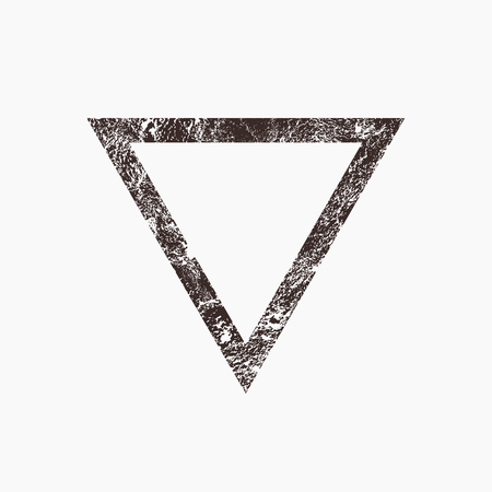 triangle: Triangle, grunge background, vector illustration