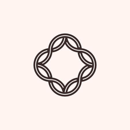 Simple monogram frame, geometry, vector illustration, EPS 10 Vetores