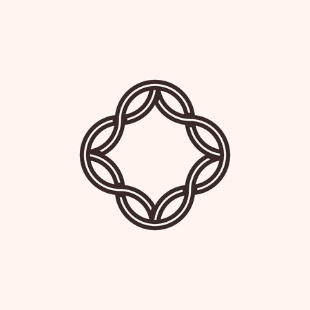 Simple monogram frame, geometry, vector illustration, EPS 10 Illustration