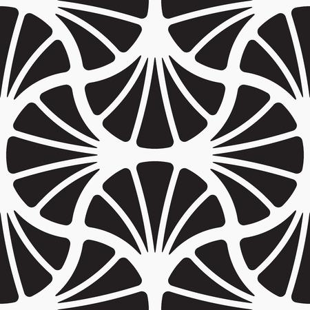 Naadloze patroon, bloemen stijlvolle achtergrond, vector illustratie, zwart en wit