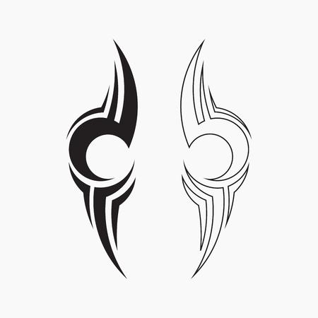 tatuaggio tribale, illustrazione vettoriale Vettoriali