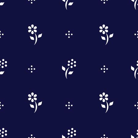 Folk fond avec des fleurs abstraites, seamless