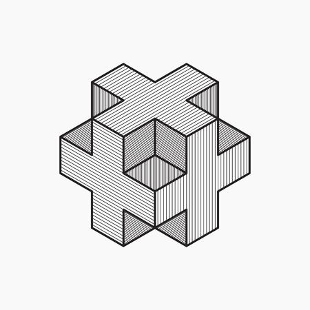 plus icon: 3d cube plus design, cross, vector illustration