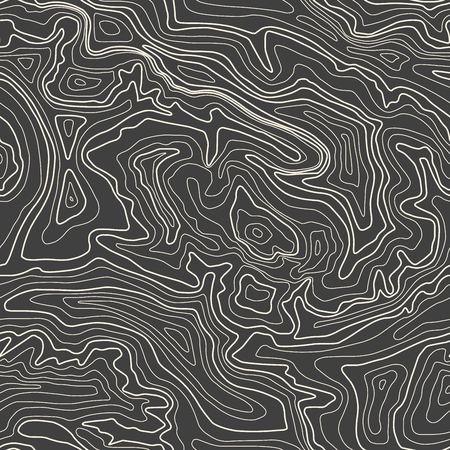 Topographic map, vector illustration, seamless pattern