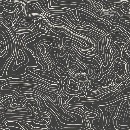 Topographische Karte, Vektor-Illustration, nahtlose Muster