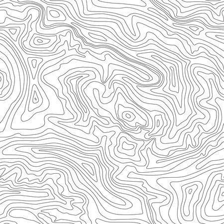 Topographic map, seamless pattern, line design, vector illustration Illustration