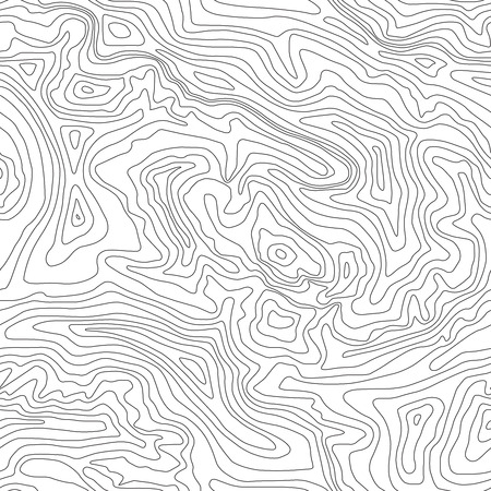 Topographic map, seamless pattern, line design, vector illustration Stock Illustratie