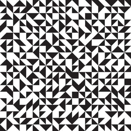 geometrical: Triangle background, seamless pattern, black and white, vector illustration