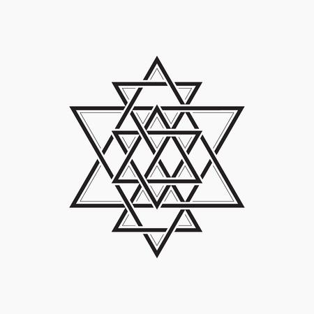 illuminati: Sacred geometry. Abstract symbol of the constitution of man. Geometric shape.