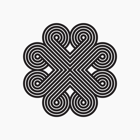 intertwined: Intertwined pattern. Line design illustration