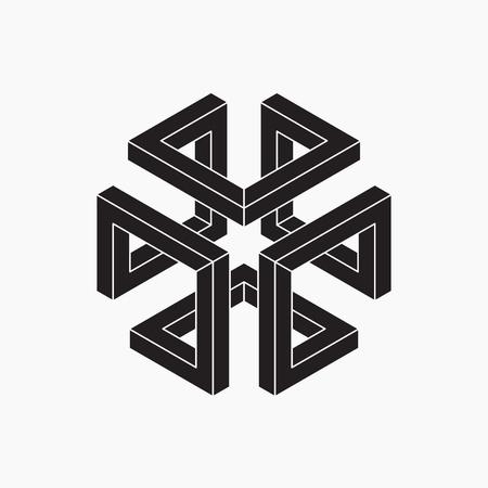 escher: Impossible shape. Cube.
