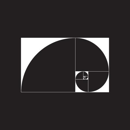 fibonacci number: Golden spiral. Golden ratio. Vector illustration EPS 10