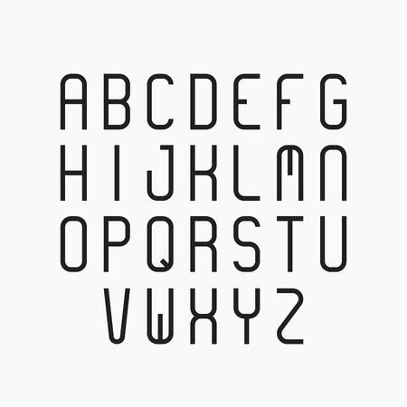 sans serif: alphabet set. Modern sans serif font. Illustration