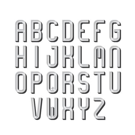 retro type: Retro font, alphabet, type letters.