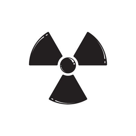 quarantine: Radiation symbol isolated on white. Vector illustration EPS 10