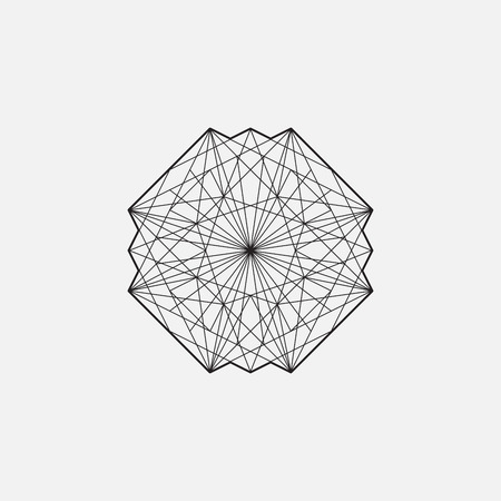 forme geometrique: forme géométrique, élément de design. la conception de la ligne, les coups non dilaté. Vector illustration EPS 10 Illustration