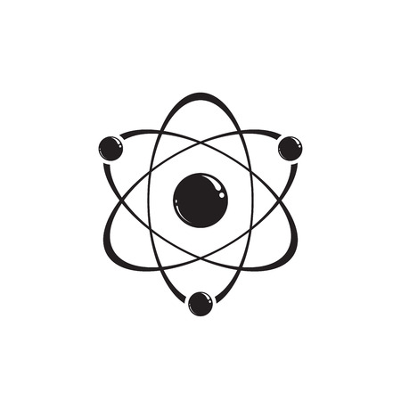 Molecule icon. Atom icon. Vector illustration EPS 10