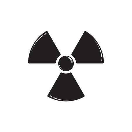 gamma radiation: Radiation symbol isolated on white. Vector illustration EPS 10