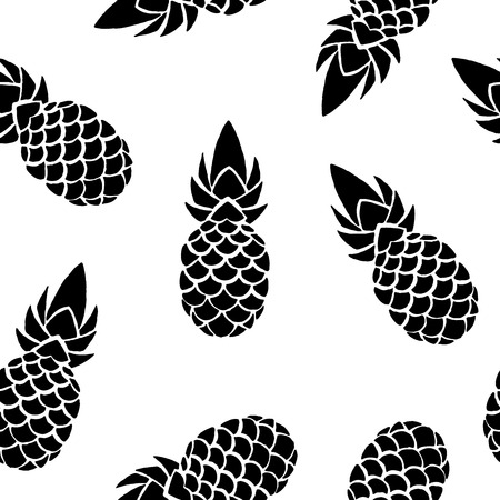 Pineapple background, seamless pattern. Vector illustration EPS 10
