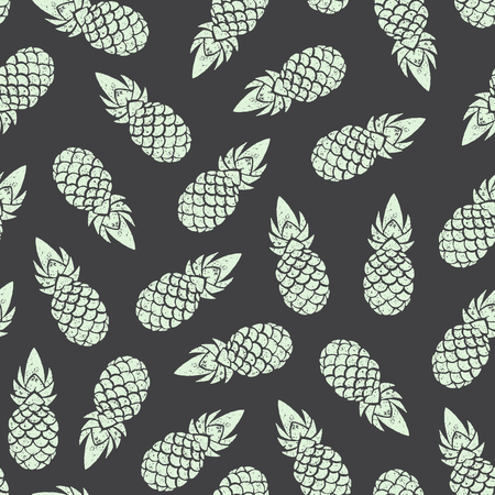 fabric pattern: Pineapple background, seamless pattern. Vector illustration EPS 10