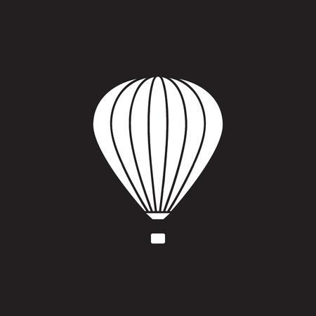 Hot air balloon icon, vector illustration EPS 10