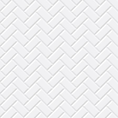 Białe kafelki, cegła ceramiczna. Diagonal bez szwu. Ilustracji wektorowych EPS 10