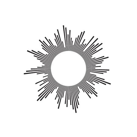 burst background: Halftone design element. Circle logo for infographics. Vector illustration EPS 10 isolated on white background Illustration