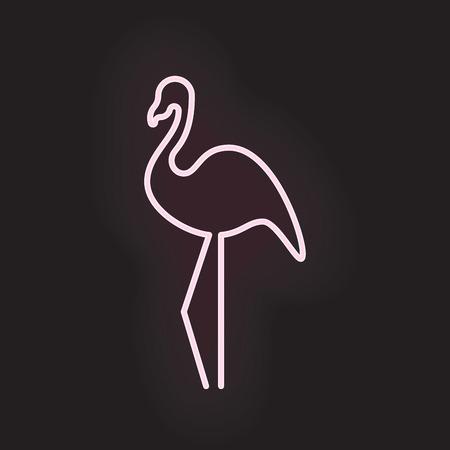 vegas strip: Flamingo neon light. Vector illustration EPS 10