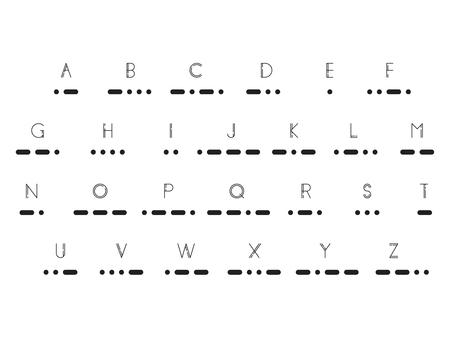 Morse code, vector illustration EPS 10. Illustration