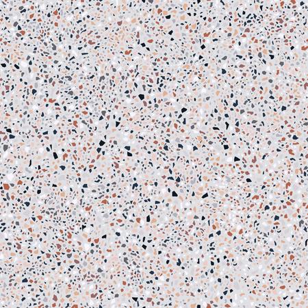 Terrazzovloer, marmeren oppervlakte, naadloos patroon, vectorillustratie Vector Illustratie