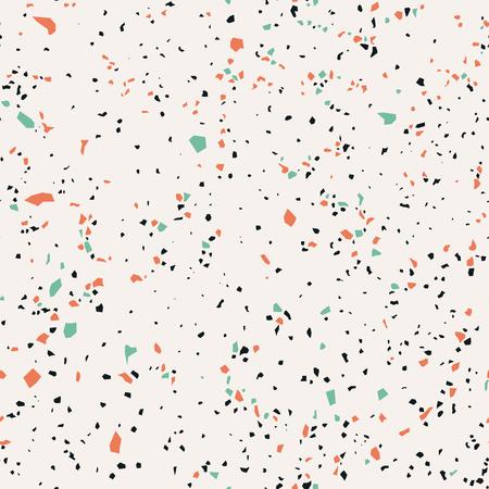 Terrazzo, naadloos patroon, marmeren oppervlakte, vectorillustratie Stockfoto - 88074573