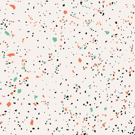 Terrazzo, seamless pattern, marble surface, vector illustration